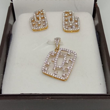916 Gold CZ Pendant Set MJ-P003