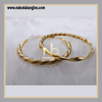 916 Gold Pipe Bangles NB - 889