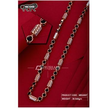 18 carat Rose gold rudraksh gents chain mrg0007