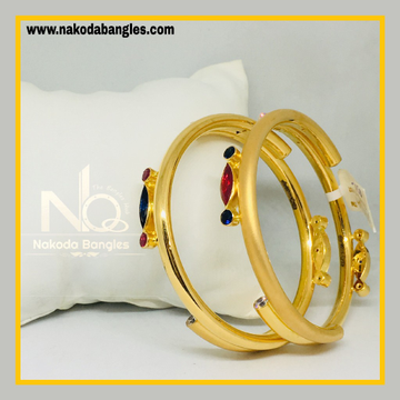 916 Gold Pipe Bangles NB - 531