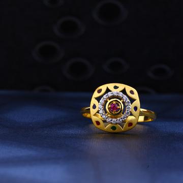 22kt Gold Square Shape designer Ring LR26