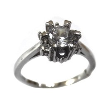 925 Sterling Silver Solitaire Ring MGA - SR0085