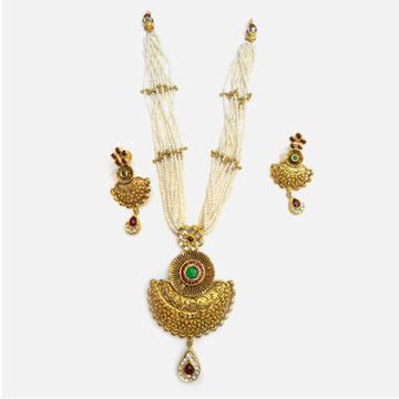 916 Gold Antique Wedding Jewellery Set RHJ-4994