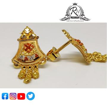22 carat gold antique ladies earrings RH-ER853