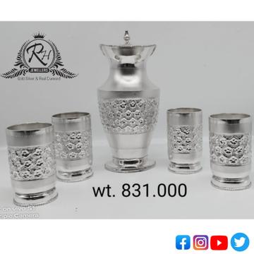 silver glass & jag antique set RH-GF672