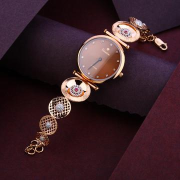 18KT Cz Women's Fancy Rose Gold  Watch RLW251
