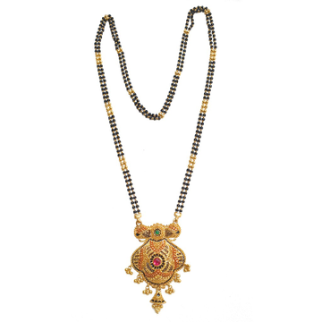 22kt Gold Designer Work Mangalsutra MGA - GM051