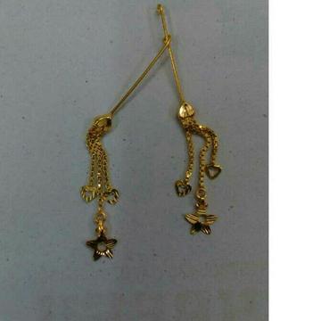 18K Gold Designer Ladies Latkan Earrings by Vipul R Soni