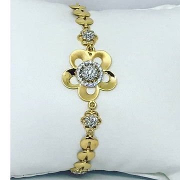 Gold CZ Colourfull Ladies Lucky LL-0002