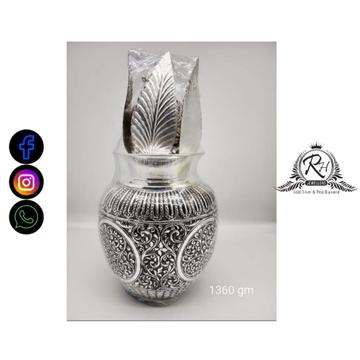 silver designs astha lakshmi kalasam for puja RH-PI709
