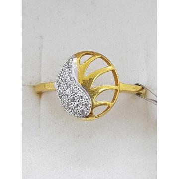 916 Gold studded rhodium Ladies Ring SJ-LR/10