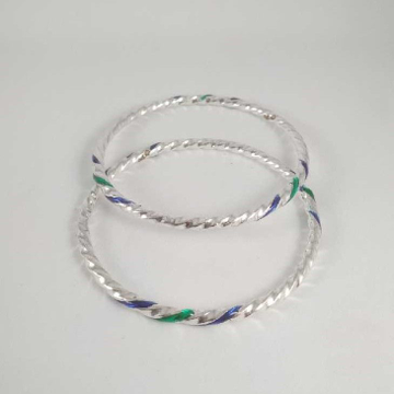 Silver Twisted Bangles. NJ-B01047