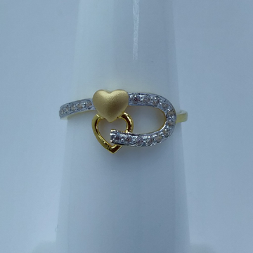 22k cz gold plated fancy ladies ring