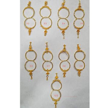 18 carat gold fancy ladies earrings RH-LE911