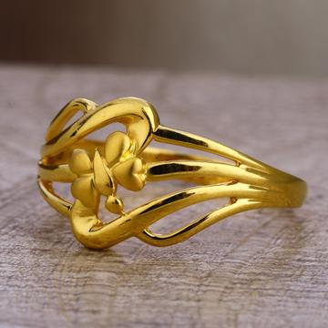 750 gold hallmark fancy plain ladies lpr483
