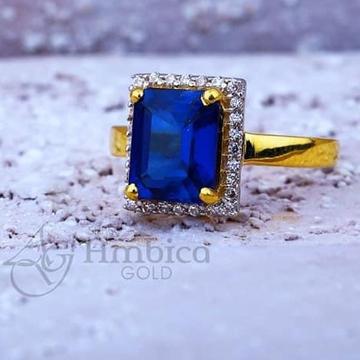 916 Gold Ladies CZ Ring RH-LR003