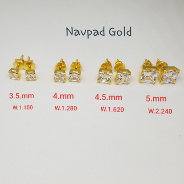 18kt gold c ston butti ZL5827