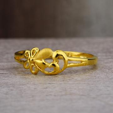 Ladies 22K Gold New Fancy CZ Ring -LPR43