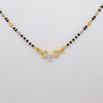 22 kt 916 hallmark gold single stone delicate mang... by Zaverat
