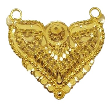 22k Gold halmarked double kunda pendent by