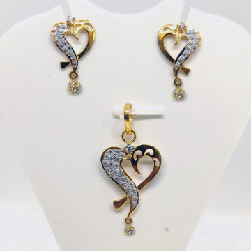 22kt gold cz pendant set sk-ps009 by