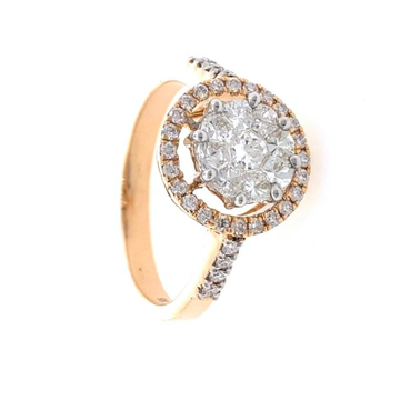 18kt / 750 rose gold classic engagement diamond ri...