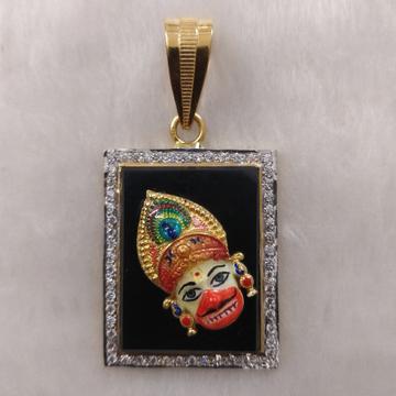 916 Gold Fancy Gent's Kastbhanjan Dev Face Pendant
