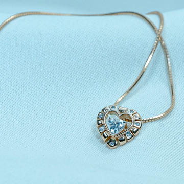 Delicate Gold Pendant P18-585 by