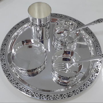 999 Pure Silver Dinner set PJ007