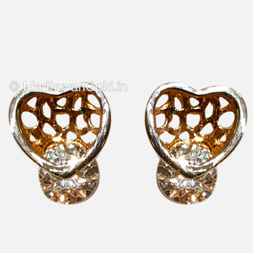 18KT CZ Rose Gold Heart Shaped Tops