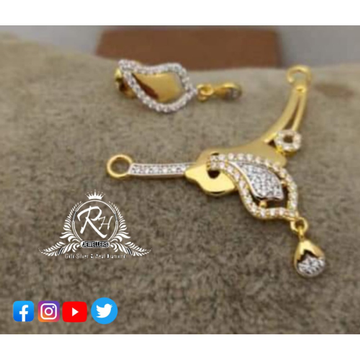 22 carat gold ladies mangalsutra pandet set RH-MS501