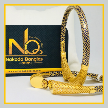 916 Gold Pipe Bangles NB - 510