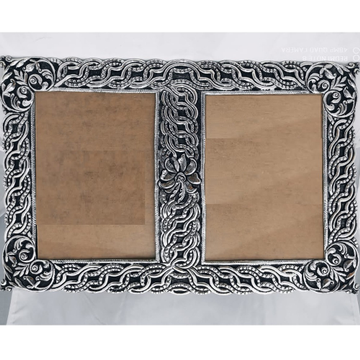 925 Pure silver photo frame in deep carvings in an... by Puran Ornaments