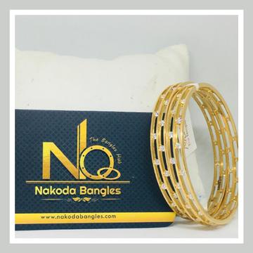 916 Gold CNC Bangles NB - 722