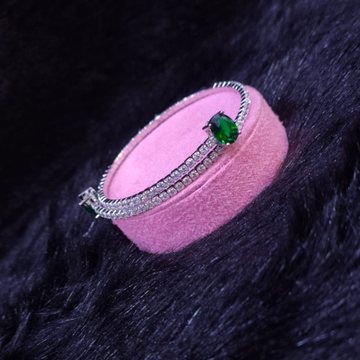 92.5 Sterling Silver Green Stone Felice Cz Stone Fancy Stone Brecelet For Women
