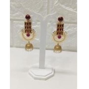 18k Gold ruby designer Earings by
