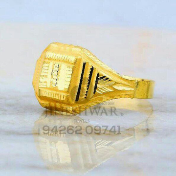 Work Were Fancy Plain Gold Gents Ring