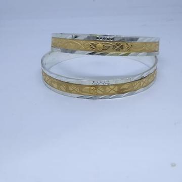 silver gold(ganga jamna) patli by