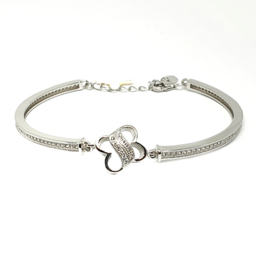 925 Sterling Silver Half Kada With Loose Bracelet MGA - BRS0350