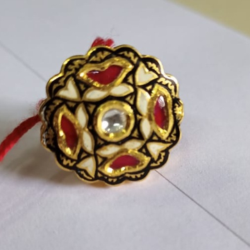 22 k916 gold jadtar ring by