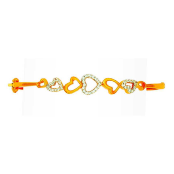 916 Gold Heart Design Fancy Ladies Bracelet