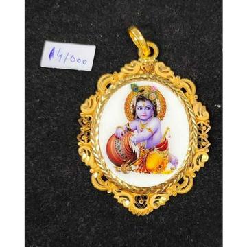22KT Gold Krishna pendant by