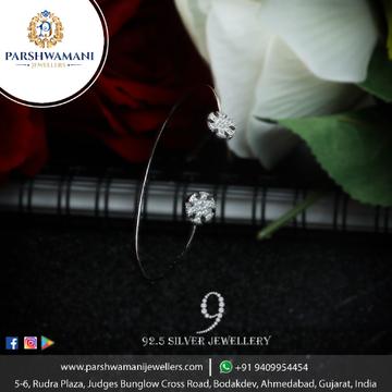 92.5 Sterling Silver Delicate Fancy Cz Brecelet For Women
