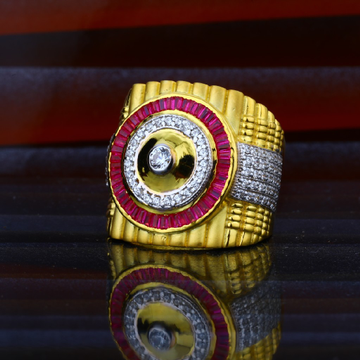 Mens Heavy Weight Gold 22ct Fancy Gold Ring-MHR27