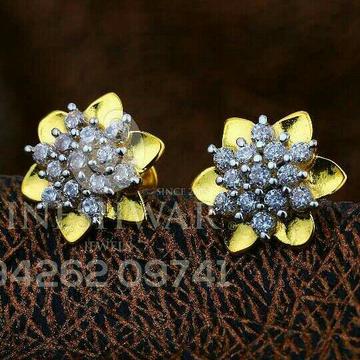 18kt flower shape cz gold ladies tops atg -0329