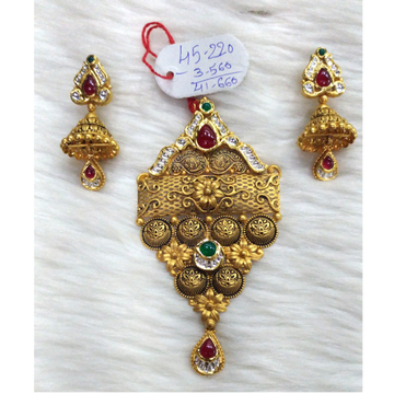 916 Gold Antique Bridal Pendant Set
