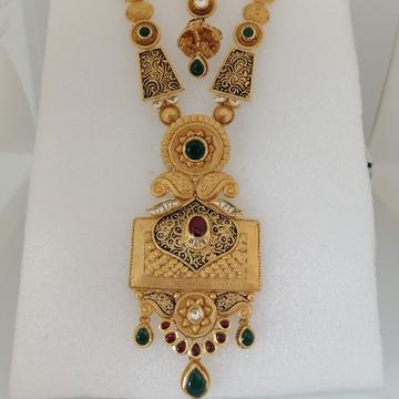 916 gold antique long set by Vinayak Gold