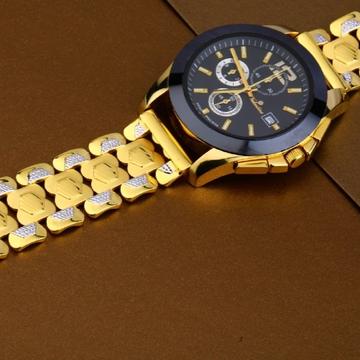 22 carat gold hallmark stylish mens watch rh-ga488