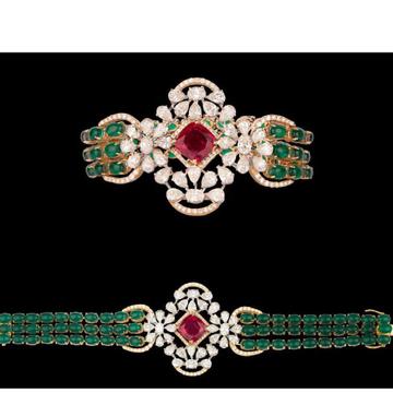 Diamonds, Ruby and EmeraldsBraceletJSJ0066