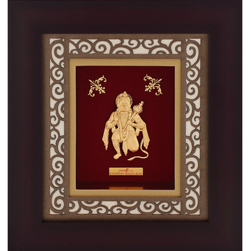 22K Gold Plated Hanumanji Photo Frame AJ-08